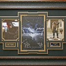 Batman Dark Knight Rises Signed Photo Collage Framed