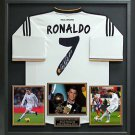 Cristiano Ronaldo Signed Real Madrid 2014 Home Jersey Display