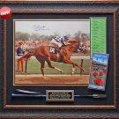 Secretariat Kentucky Derby Autographed Photo Framed