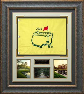 2015 Masters Flag Unsigned Collage Display.