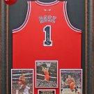 Derrick Rose Signed Chicago Bulls Jersey Framed