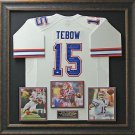 Tim Tebow Signed Florida Gators Jersey Framed