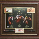 Triple Crown Champions Autographed Photos Framed