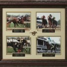 Last Four Triple Crown Champions Commemorative Collage Display.