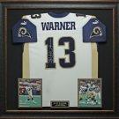 Kurt Warner Signed Jersey Framed