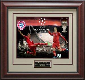 Bayern Munich Wins Champions League Framed Photo