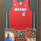 LeBron James Autographed Miami Heat Jersey with MVP Patch Framed