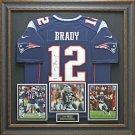 Tom Brady Signed Patriots Jersey Display.