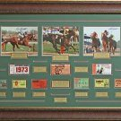 Secretariat, Affirmed, Seattle Slew Triple Crown Champion Signed Photo Framed