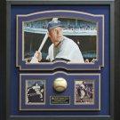 Mickey Mantle Signed Baseball Framed Display.