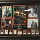 Game of Thrones Collage Multi Signed by 12 Cast Members Framed.