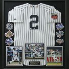 Derek Jeter Signed NY Yankees Jersey with 2014 All Star Patch Display.