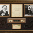 Harry Houdini Signed One Page Letter With Original Photos Display.