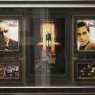 The Godfather Trilogy Signed by Al Pacino Display.