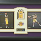 Kobe Bryant Signed Los Angeles Lakers Panini Basketball Card Display