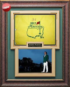 Bubba Watson Autographed Masters Flag Framed