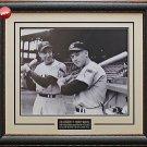 Mickey Mantle & Joe DiMaggio 1951 New Yankees Photo Framed