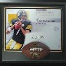 Ben Roethlisberger Signed Steelers Photo Football Breaking Thru Display LE of 7.