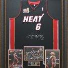 Lebron James Signed Jersey Framed Limited Edition