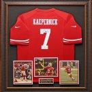 Colin Kaepernick Autographed 49ers Jersey Display.