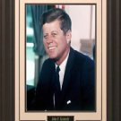 John F Kennedy Portrait Photo Framed