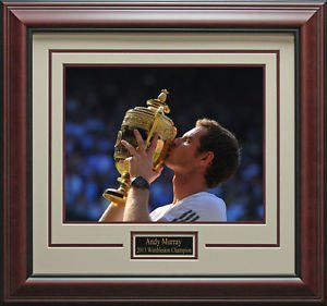 Andy Murray 2013 Wimbledon Champion Photo Framed