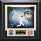 Derek Jeter Signed New York Yankees Photo Framed.