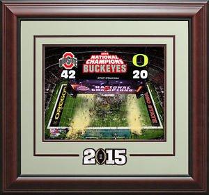 Ohio Buckeyes 2014-15 National Champions Photo Display.