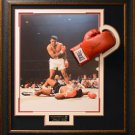 Muhammad Ali Signed Boxing Gloves Collage Display.