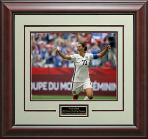 Carli Lloyd 2015 Women's World Cup Team USA Action 11x14 Photo Display.
