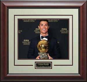 Cristiano Ronaldo Wins FIFA Ballon d'Or Photo Display.