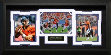 Peyton Manning Signed Denver Broncos Collage Framed