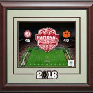 Alabama Crimson Tide National Champions Photo Collage Display.