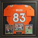 Wes Welker Signed Denver Broncos Jersey Framed Display.
