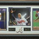 Greg Maddux - Tom Glavine - Bobby Cox Atlanta Braves 2014 HOF Photo Display