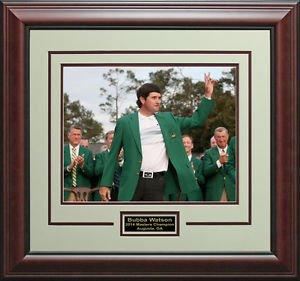 Bubba Watson 2014 Masters Champion Green Jacket Photo Framed