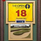 2013 British Muirfield Open Pin Flag Framed
