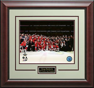 Chicago Blackhawks 2015 Stanley Cup Champions Photo Display.
