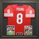Steve Young Signed Jersey Framed