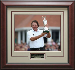 Phil Mickelson 2013 British Open Champion Framed 16x20 Photo