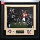 Peyton Manning Autographed Pocket Pass Photo Framed