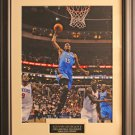 Kevin Durant Oklahoma Thunder Color Photo Matted and Framed