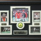 John McEnroe VS Bjorn Borg Signed Wimbledon Photo Display.