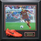 Iniesta Signed Nike Cleat Display.