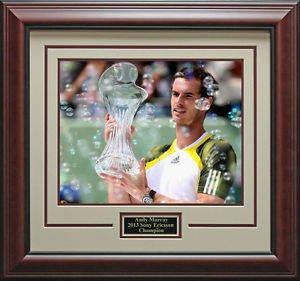Andy Murray Wins Sony Ericsson Champion 16x20 Photo Framed