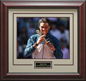 Rafael Nadal Wins Madrid Masters Framed 11x14 Photo