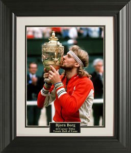 Bjorn Borg Wimbledon 11x14 Photo Framed