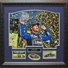 Jimmie Johnson Six time NASCAR Champion With Replica Signature Framed