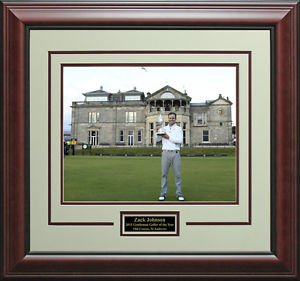 Zack Johnson Wins 2015 Open Champion Trophy 11x14 Photo Display.