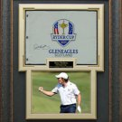Rory McIlroy Signed 2014 Ryder Cup Flag Display.